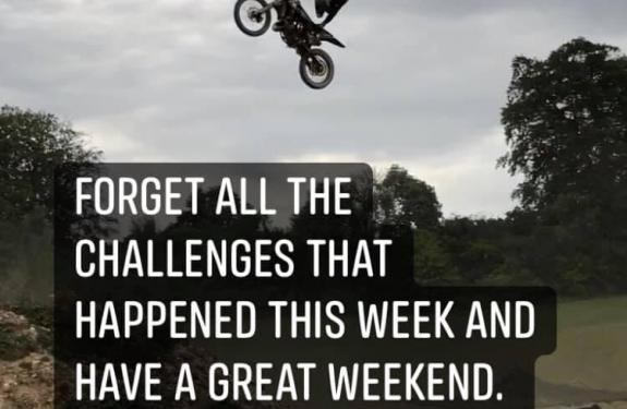 Its the weekend. Hang out!